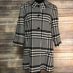 Jackets & Blazers - Carmen Marc Valvo houndstooth/plaid coat sz Lg